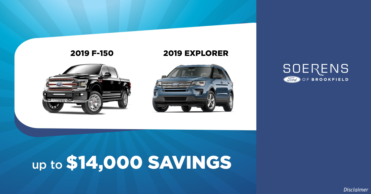 2019 Closeouts Soerens Ford Of Brookfield Blog